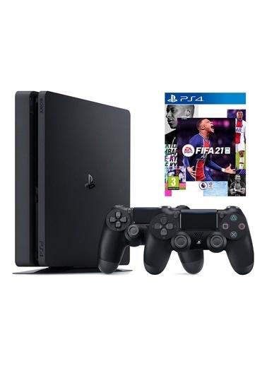 Sony Sony PS4 Slim 500 GB Oyun Konsolu + 2. PS4 Kol + PS4 FIFA 2021 Siyah